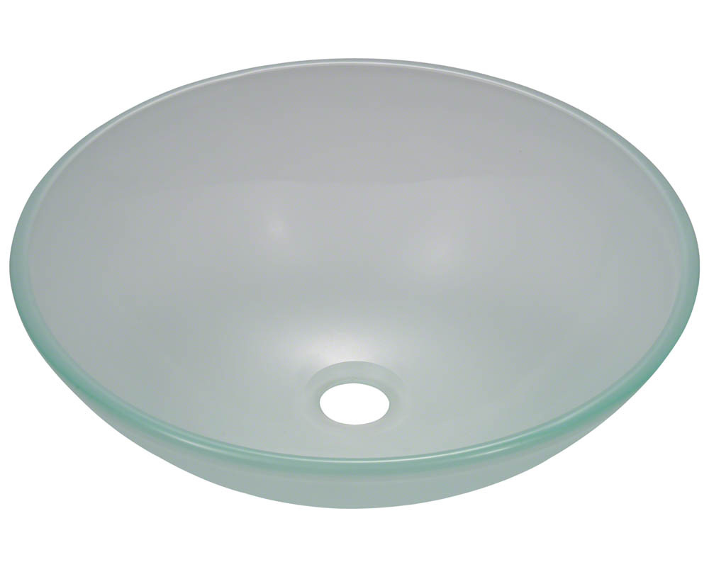 Polaris P206 Frosted Glass Vessel Sink