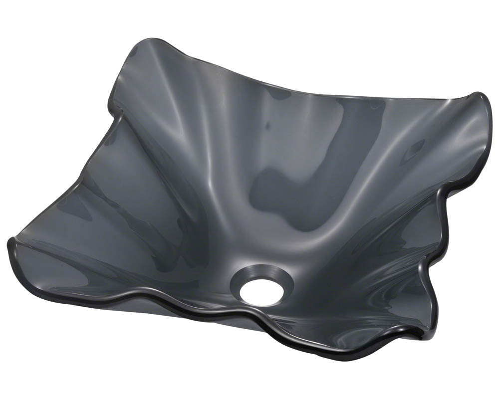 Polaris P216 Black Frosted Glass Vessel Sink