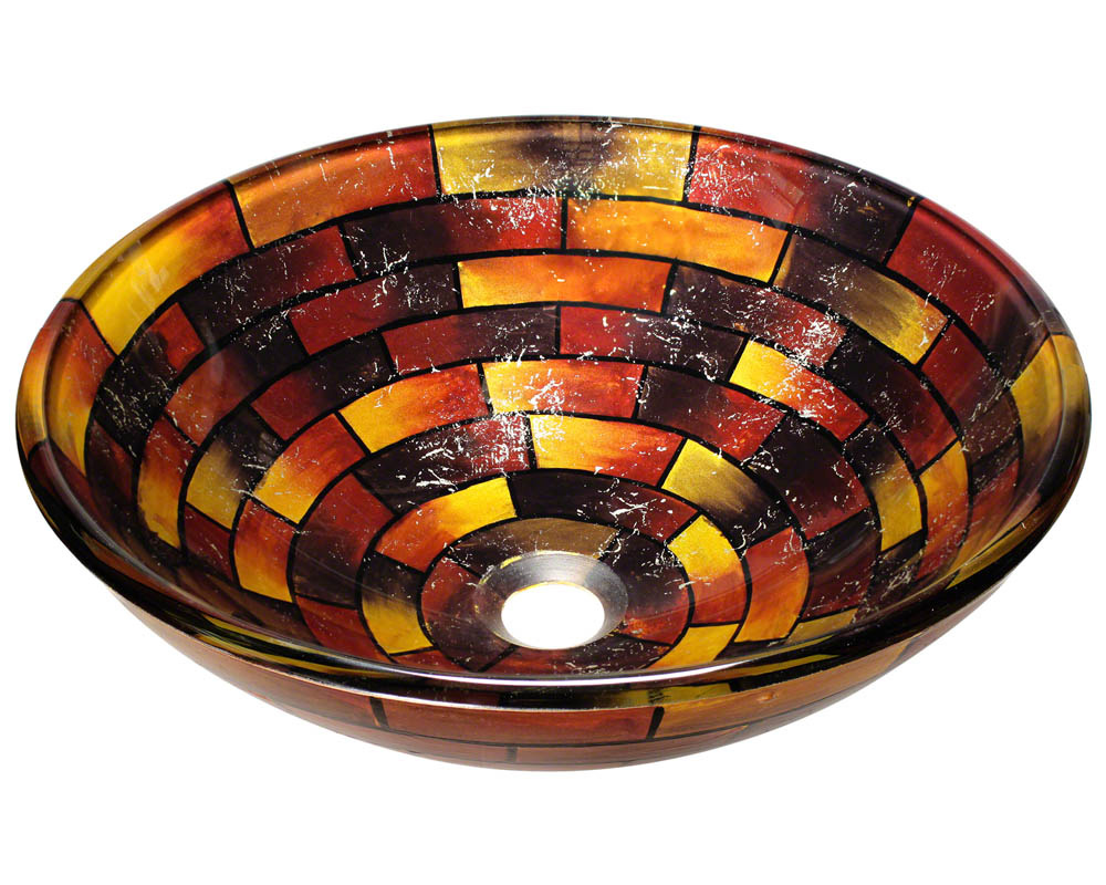 Polaris P126 Stained Glass Vessel Bathroom Sink