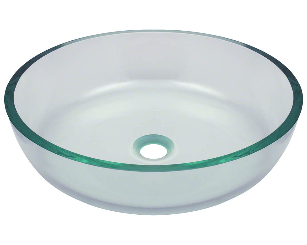 Polaris P526 Clear Glass Vessel Bathroom Sink