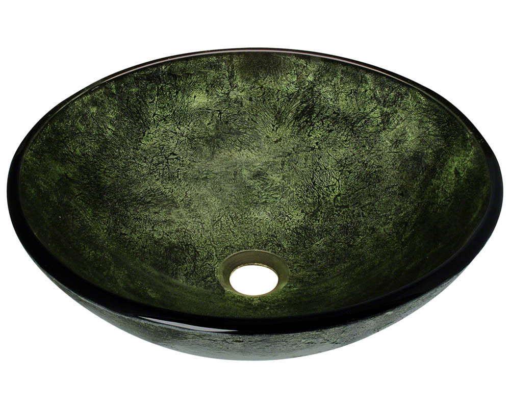 Polaris P926 Forest Green Glass Vessel Bathroom Sink
