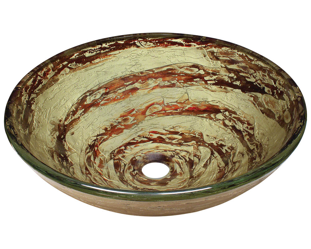 Polaris P136 Foil Undertone Glass Vessel Sink