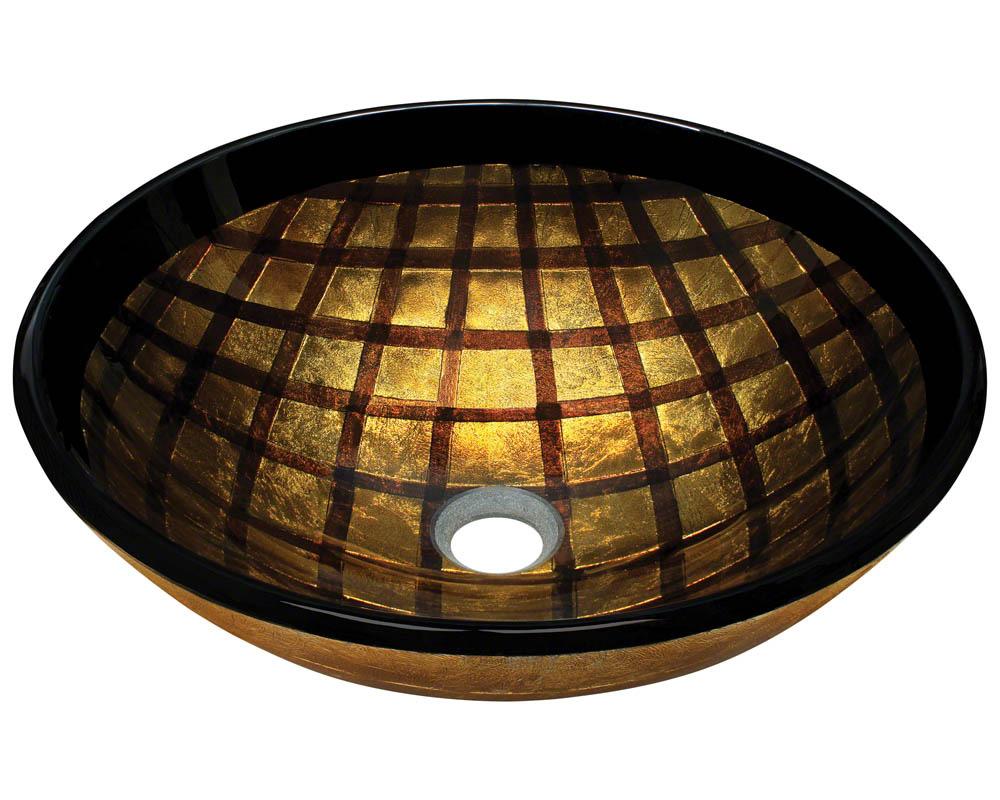 Polaris P536 Foil Undertone Glass Vessel Sink