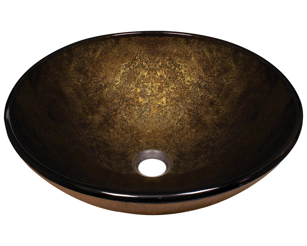 Polaris P736 Foil Undertone Glass Vessel Sink