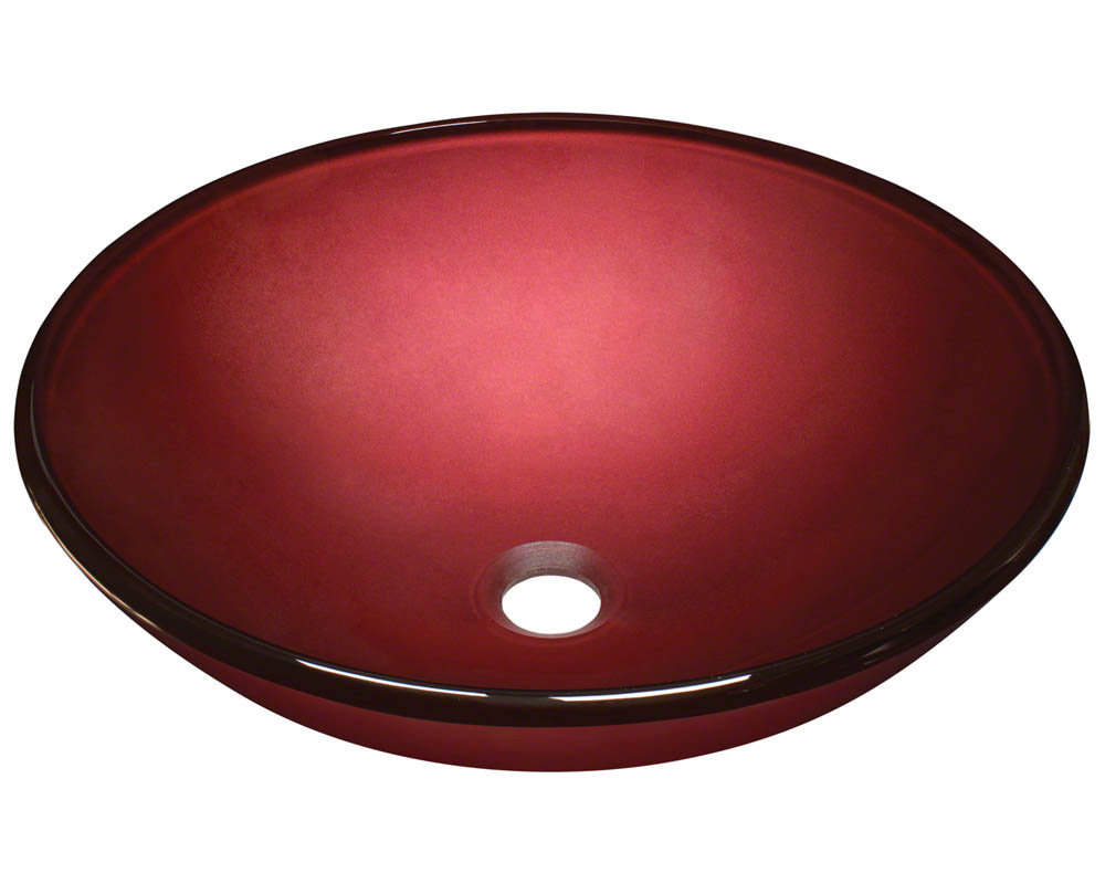 Polaris P146 Hand Painted Red Glass Vessel Sink