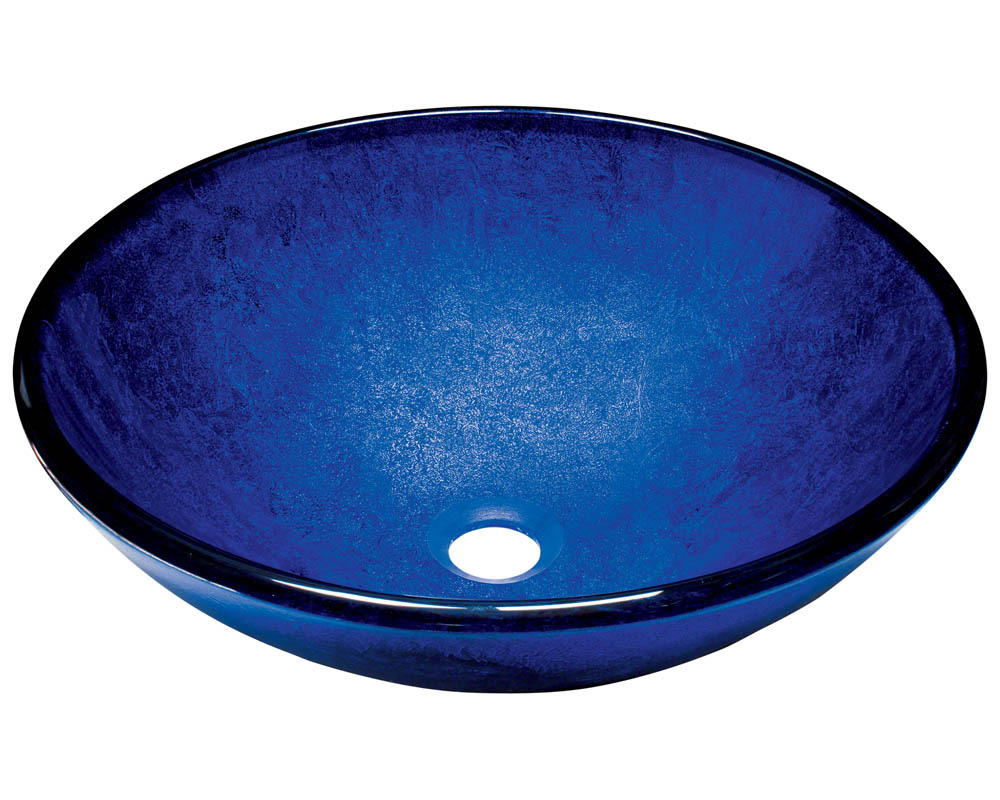 Polaris P446 Foil Undertone Royal Blue Glass Vessel Sink