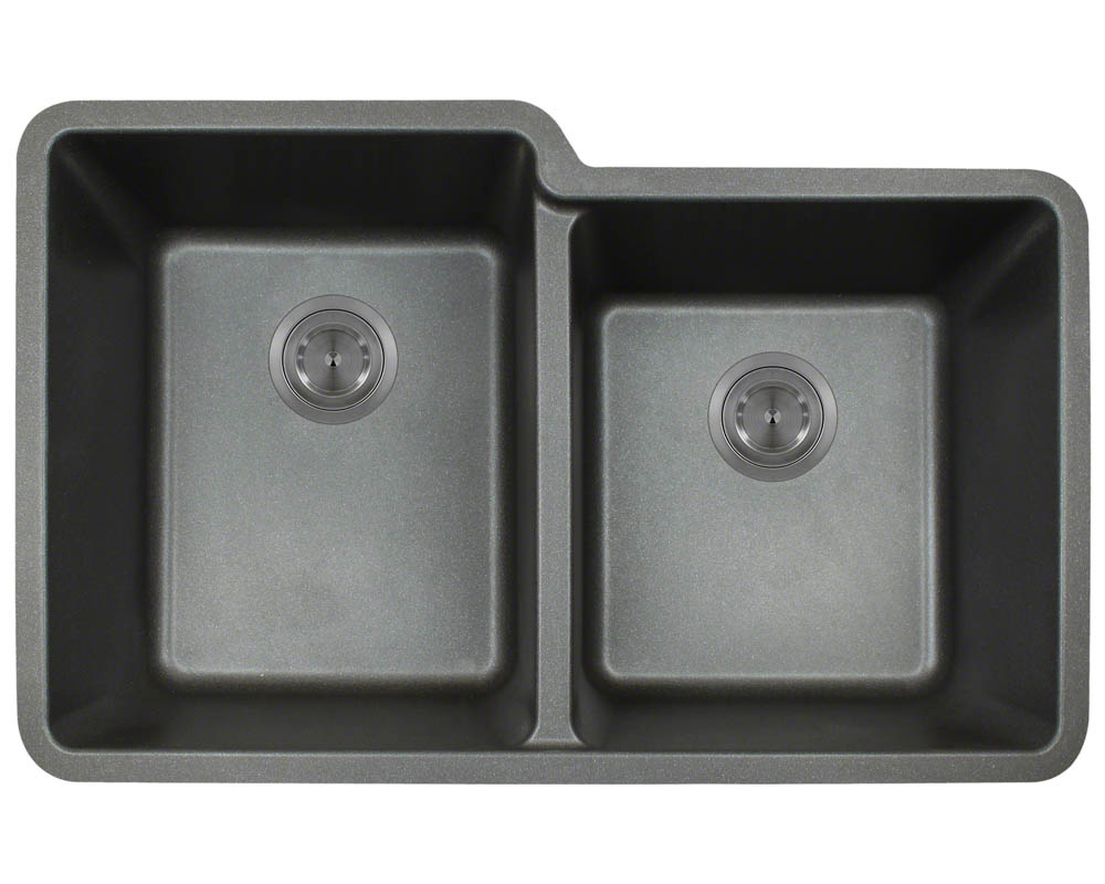 Double Offset Bowl Granite Sink