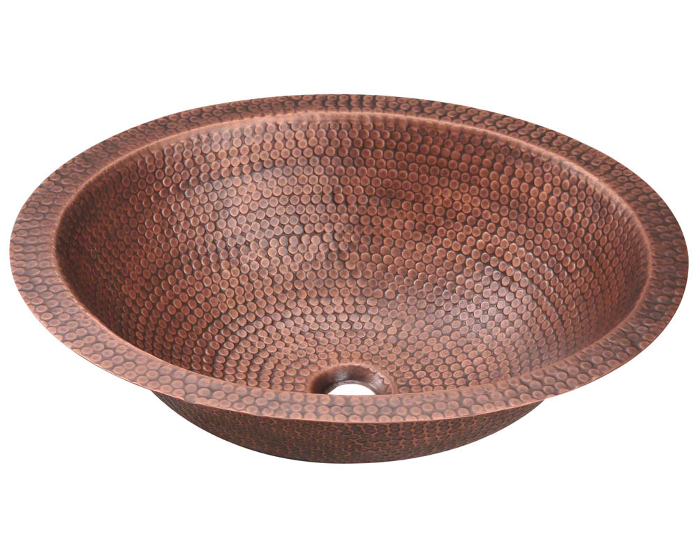 Polaris P019 Single Bowl Oval Copper Sink