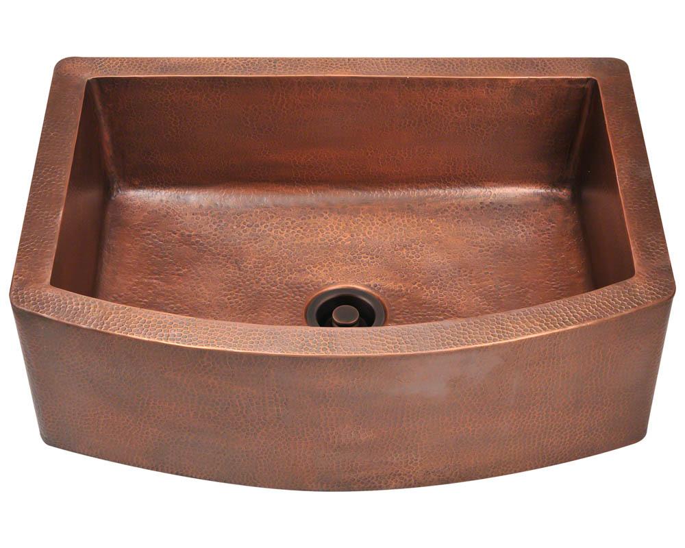Polaris P419 Single Bowl Copper Apron Sink