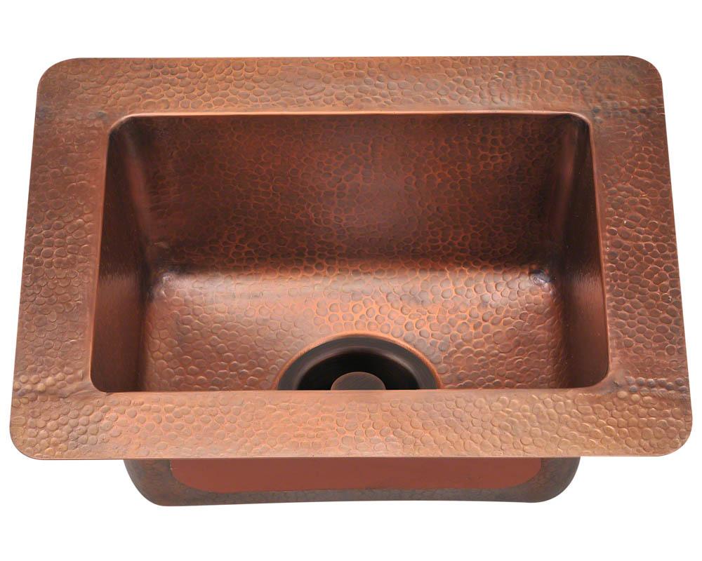Polaris P509 Small Single Bowl Copper Sink