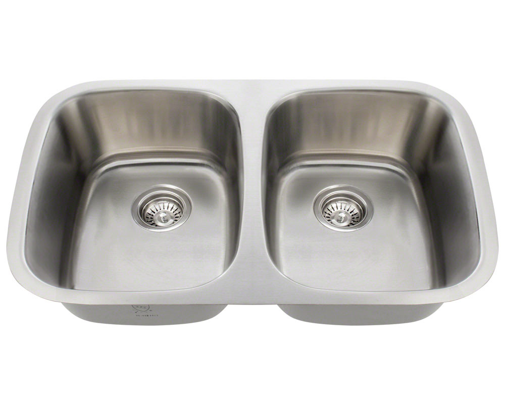 Polaris P015-16 Equal Double Bowl Stainless Steel Sink