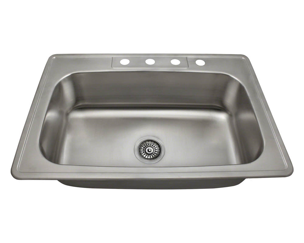 Polaris PT0301US Single Bowl Topmount Stainless Steel Sink