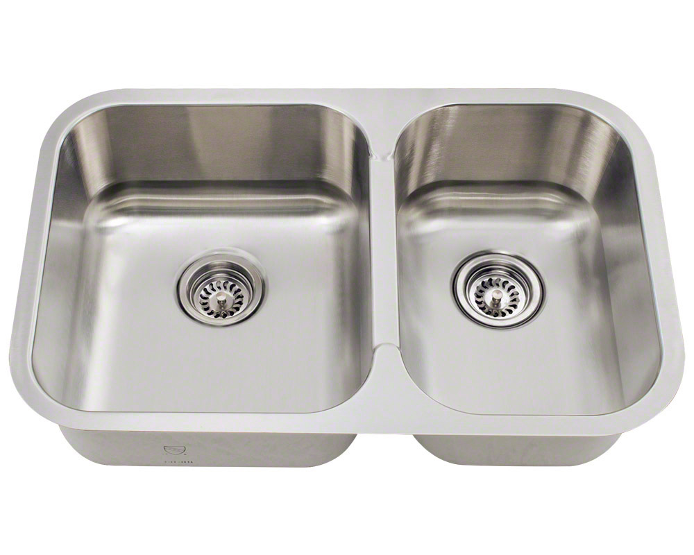Polaris PL035 Small Offset Stainless Steel Kitchen Sink