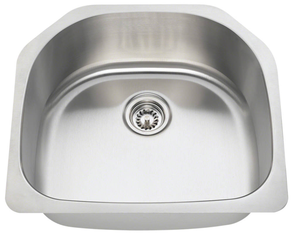 Polaris P1242-16 Single Bowl Stainless Steel Kitchen Sink