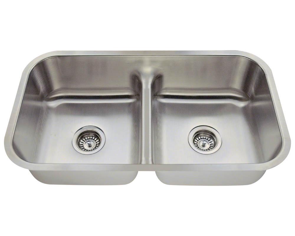 Polaris P215-16 Half Divide Stainless Steel Kitchen Sink