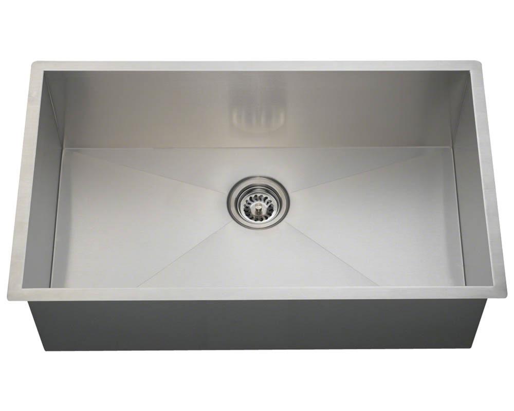 Polaris PS2233 90° Single Bowl Rectangular Stainless Steel Sink
