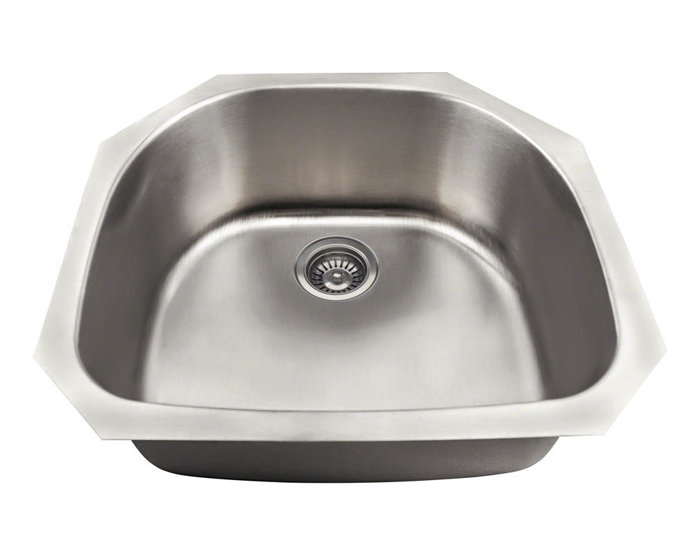 Polaris P2401US D-Bowl Stainless Steel Kitchen Sink