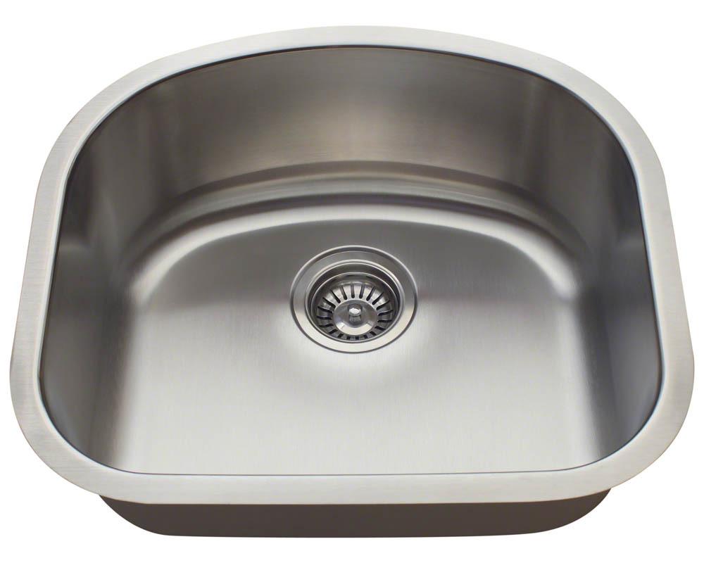Polaris P812-16 Single Bowl Stainless Steel Sink