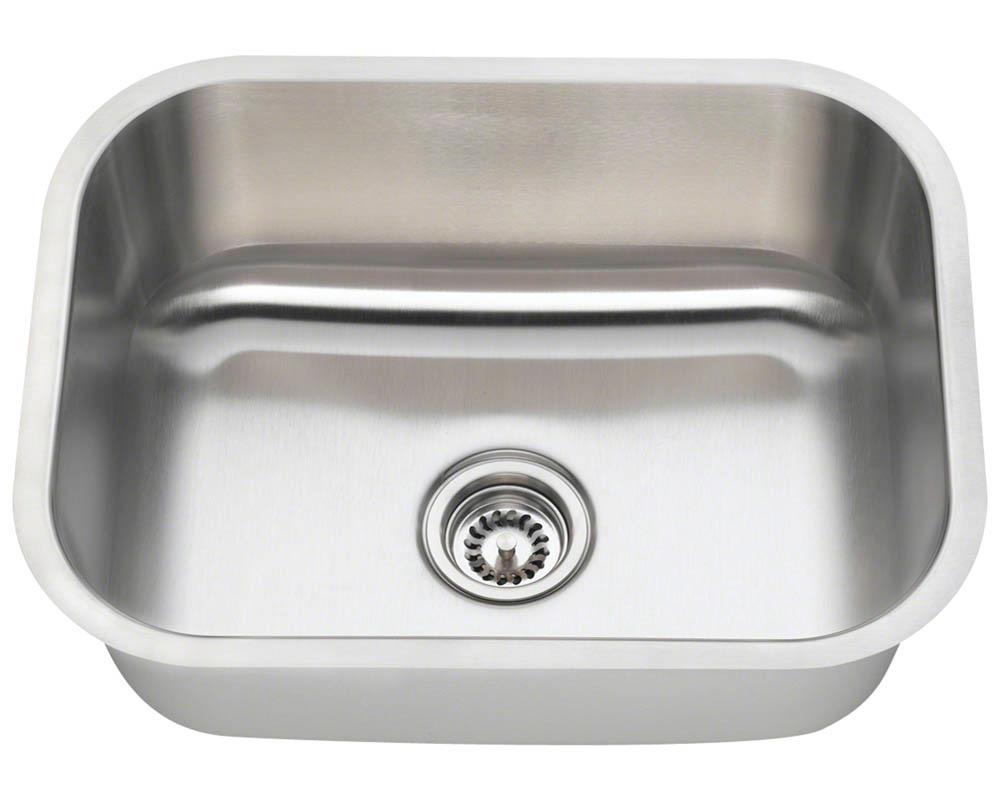Polaris P8132-16 Single Bowl Stainless Steel Kitchen Sink