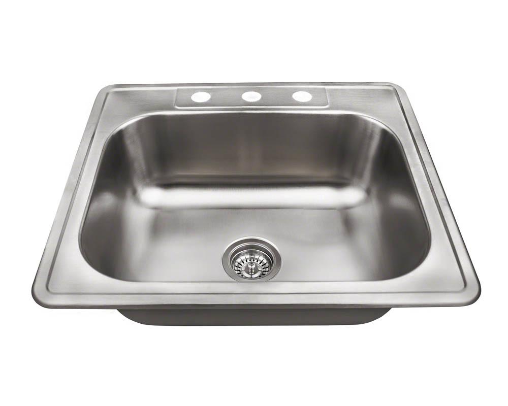 Polaris PT8301US Single Bowl Topmount Stainless Steel Sink