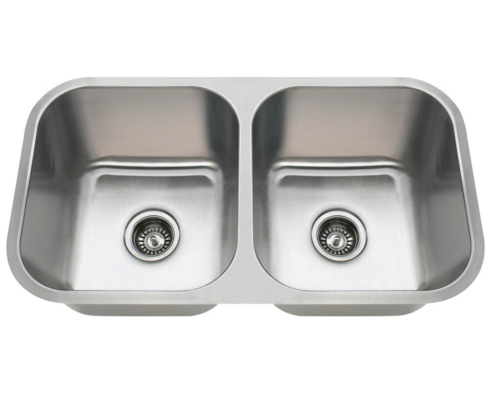 Polaris PA8123 Undermount Stainless Steel Kitchen Sink