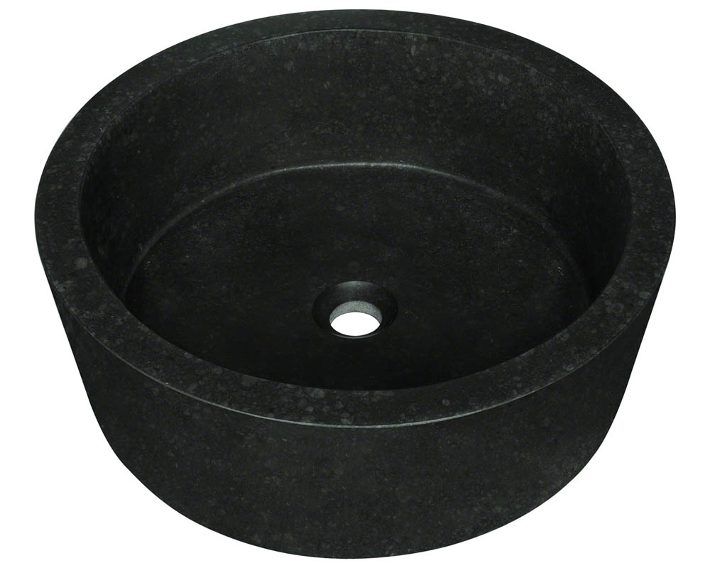 Polaris P268 Black Honed Basalt Vessel Sink