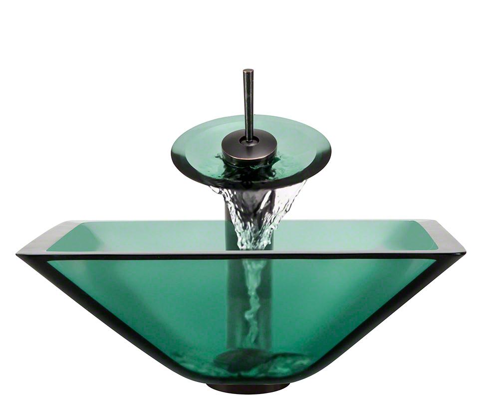 The Polaris P306 Emerald Oil Rubbed Bronze Bathroom Waterfall Faucet Ensemble