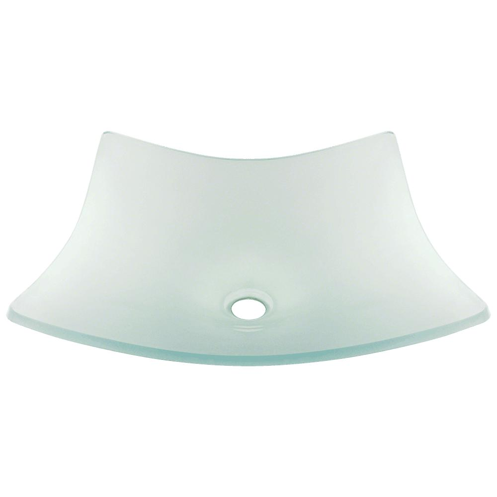 Polaris P226 Frosted Glass Vessel Bathroom Sink