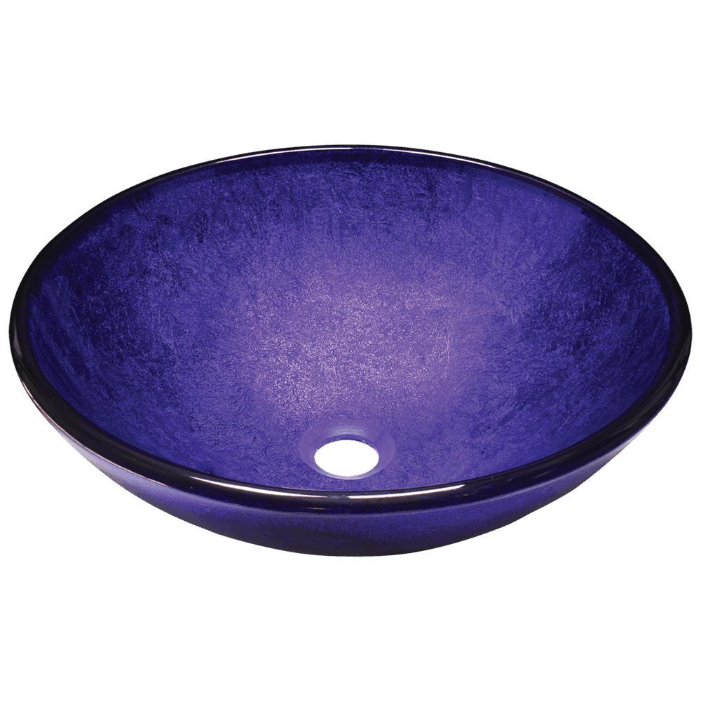Polaris P246 Foil Undertone Purple Glass Vessel Sink