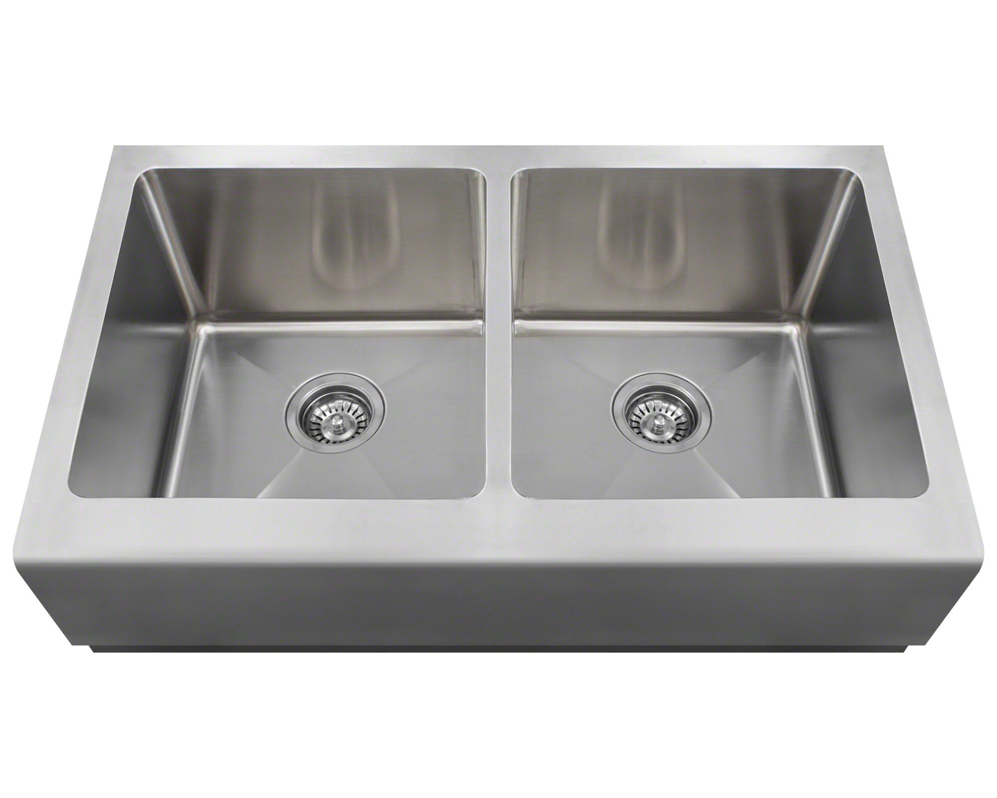 Polaris P604 Double Equal Bowl Apron Sink