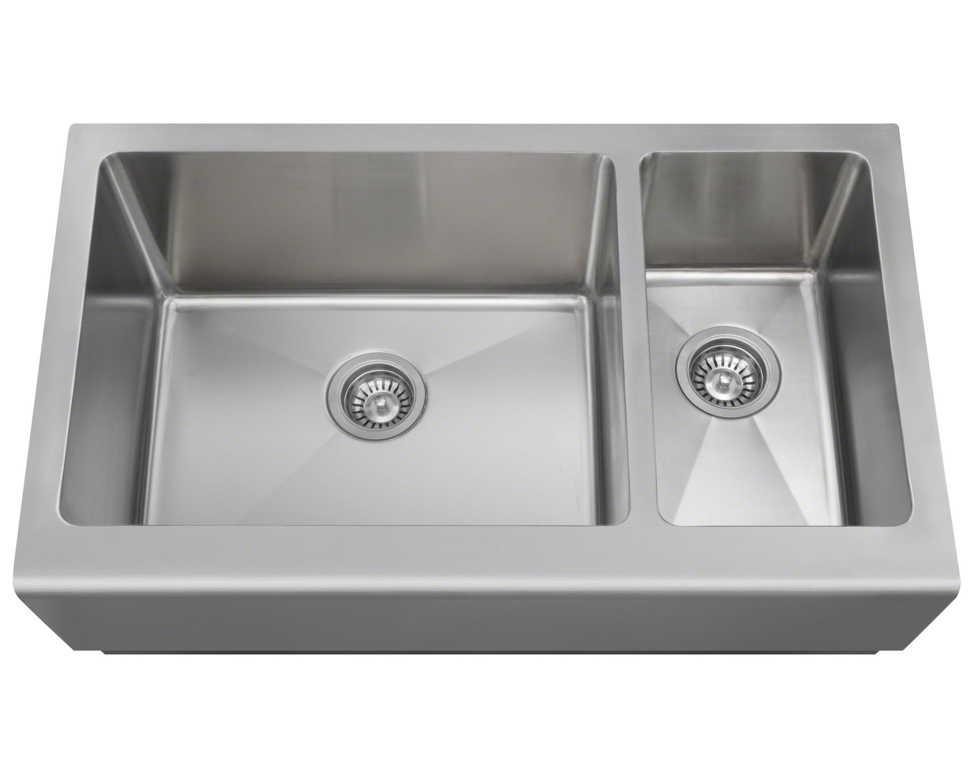 Polaris PL704 Offset Stainless Steel Apron Sink
