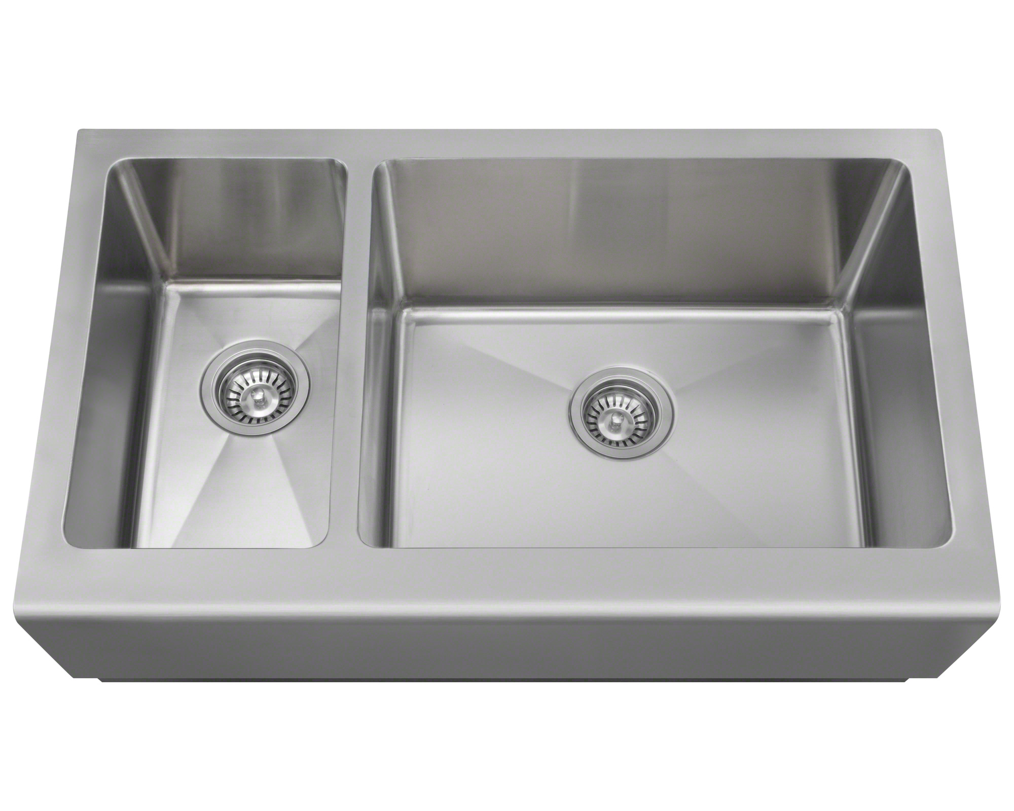 Polaris PR704 Offset Stainless Steel Apron Sink