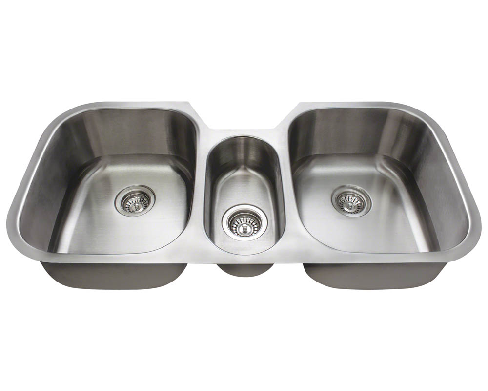 Polaris P1254-16 Triple Bowl Stainless Steel Kitchen Sink