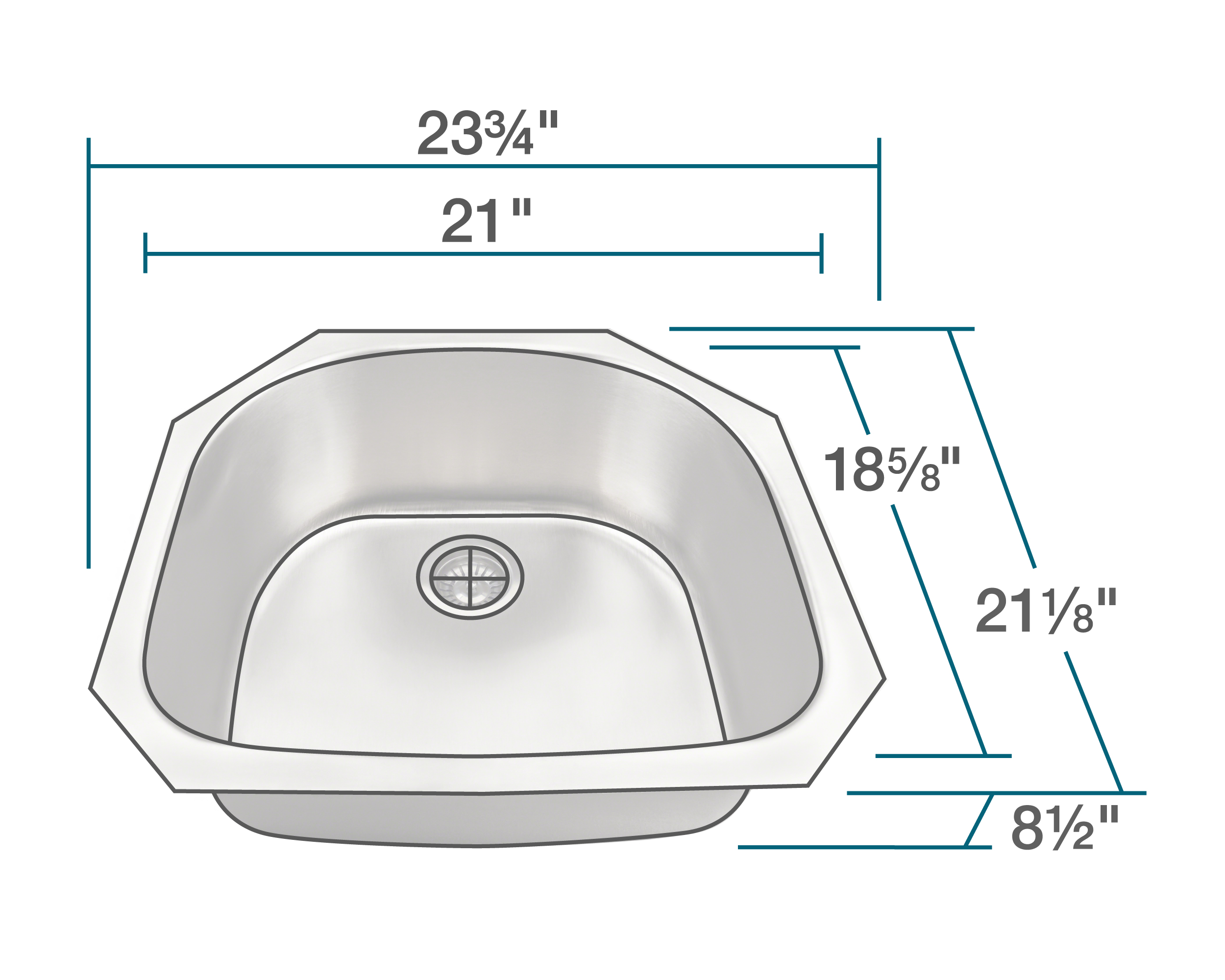 High Quality 300 Series Stainless Steel Sinks Heavy 18 Gauge Steel ...