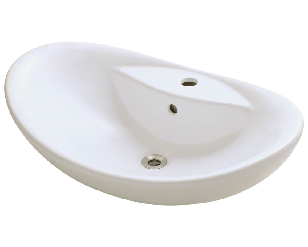 V210-Bisque Porcelain Vessel Sink eBay