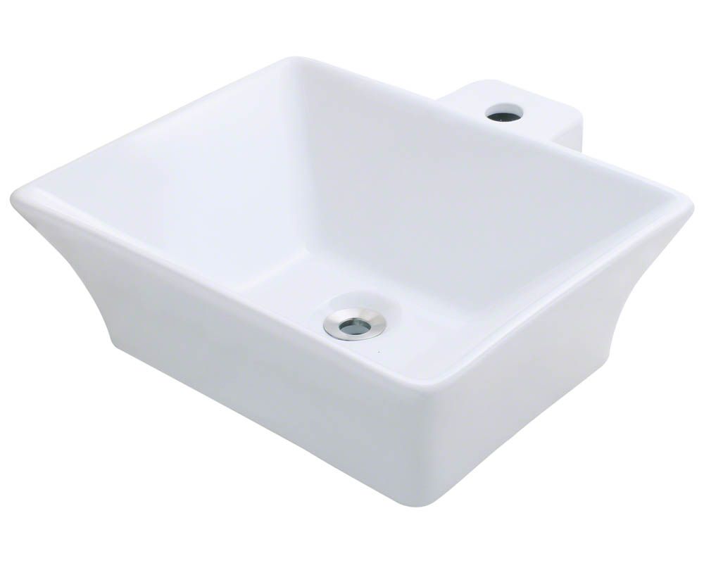 Details about V290-White Vessel Porcelain Sink