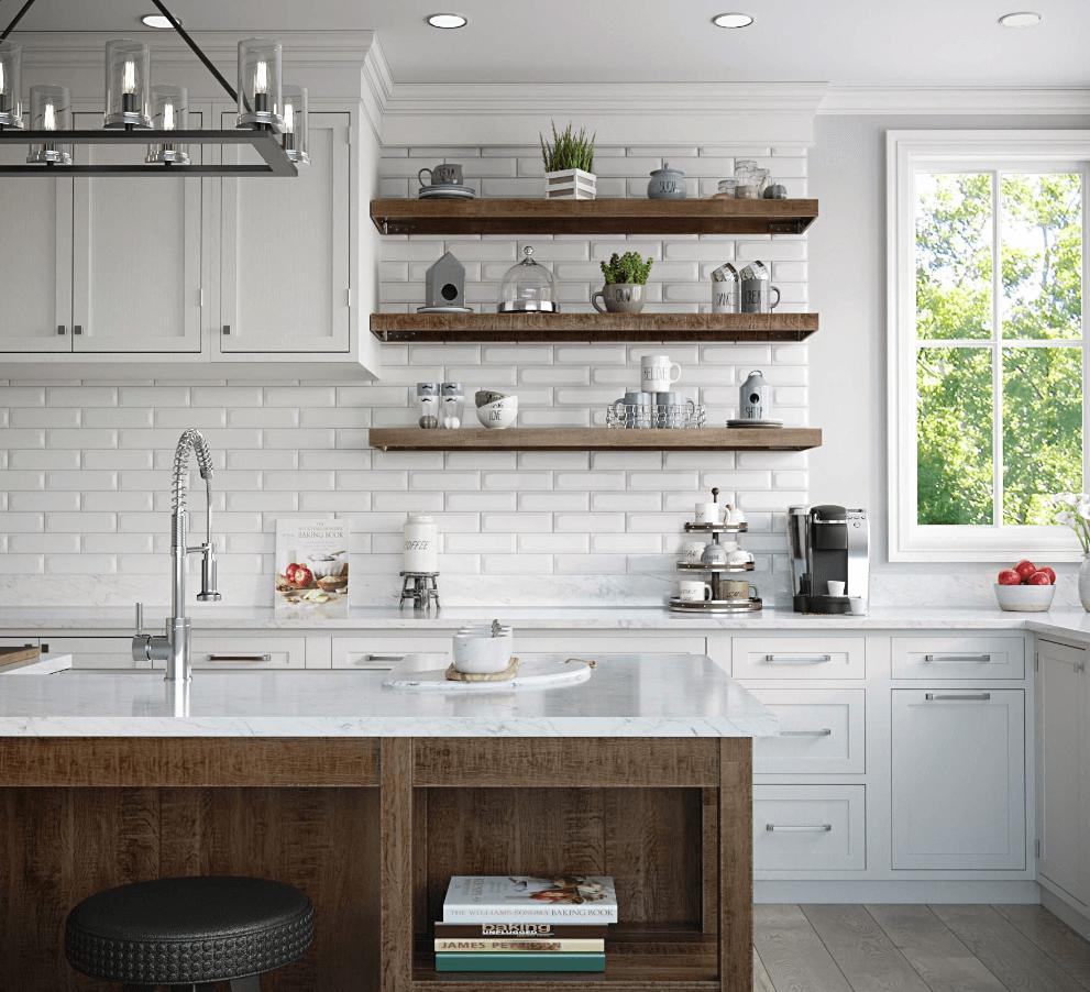 Farmhouse kitchen with modern design touches.