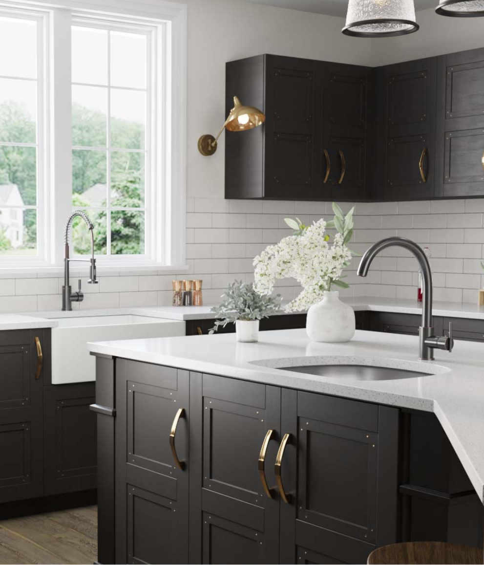 Update your faucet with a spring-spout faucet or a traditional pull-out faucet, giving your kitchen a facelift.