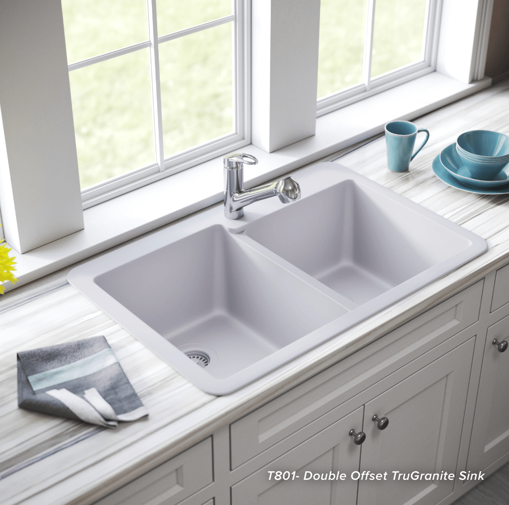 Invest in a large sink like a double offset trugranite sink.