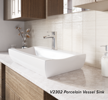 Installing a porcelain vessel sink is a simple way to upgrade your bathroom.