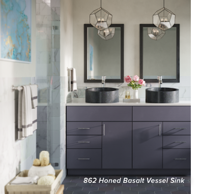 Learn how to DIY by installing a simple vessel bathroom sink!