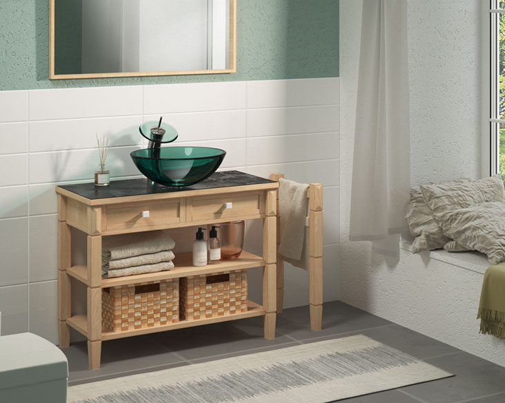 9 Incredible, Upcycled Bathroom Vanities