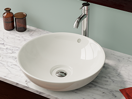 There are plenty of gorgeous vessel sink options that cost less than an  evening out at a restaurant - some as low as $40.