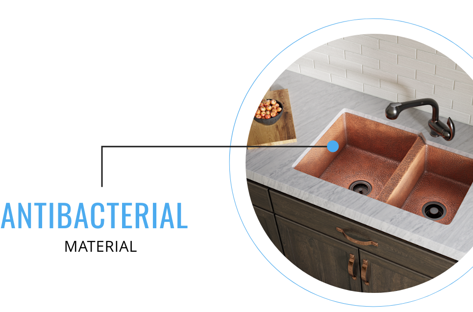 Copper sinks are naturally antibacterial.