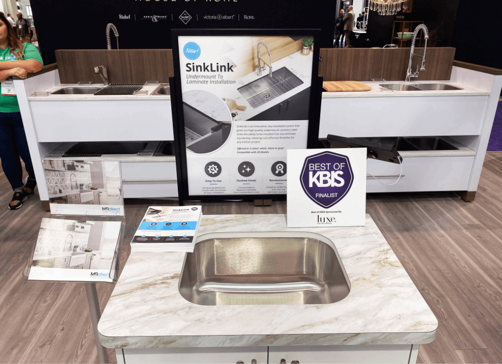 Best of KBIS Finalist for MR Direct's newest product, SinkLink!.