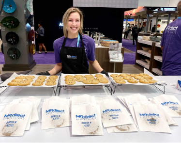 Attendees stopped by the MR Direct booth for freshly baked cookies.