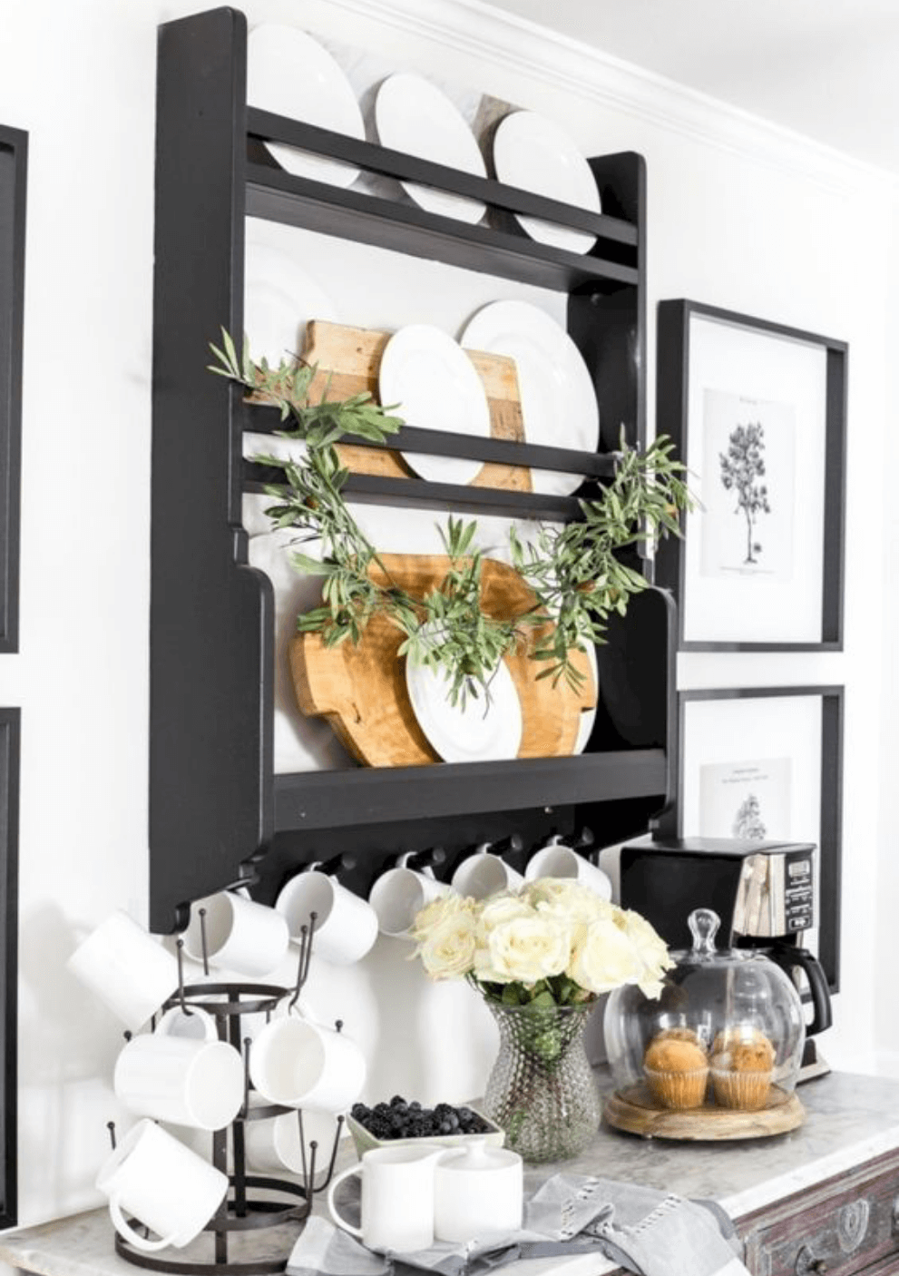 By installing a plate rack, you are saving time and preventing breakage while showing off your beautiful dishes!