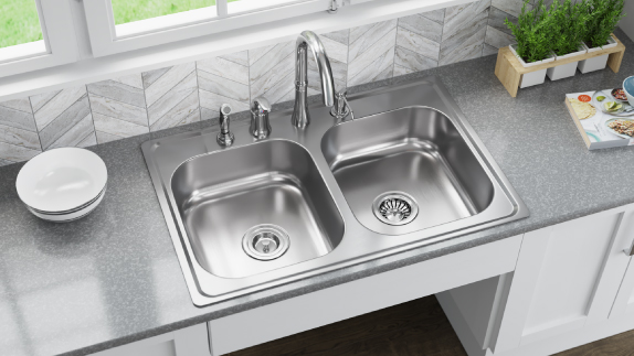 MR Direct Topmount 16-gauge sinks add a classic feel to any kitchen
