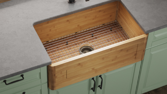 MR Direct offers apron style sinks in a variety of materials, including stainless steel, copper and bamboo