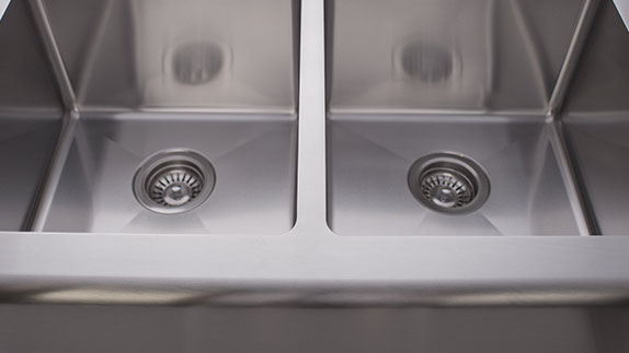 Apron Sinks are Fully-insulated to Diminish Sound